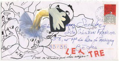 DUPIRE Catherine Tous n'étaient pas des anges Enveloppe Mail-Art / Technique mixte...