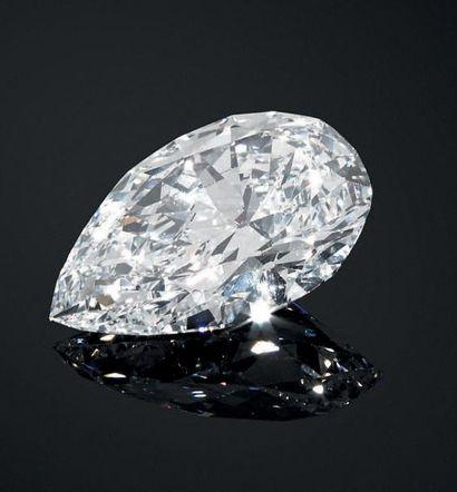 Importante bague en platine, à monture VAN CLEEF ET ARPELS sertie d'un diamant taille...