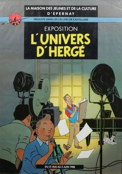 Affiche pour l'exposition «L'Univers d'Hergé»...