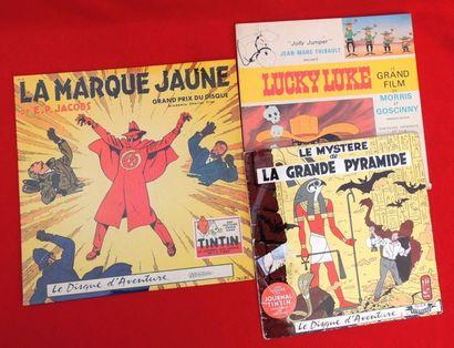 Trois Disques. Disque-Livre «LUCKY LUKE» 33 tours 25 cm «Jolly Jumper» raconté par...