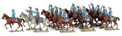IIIème République. France. (1880-1900) Chasseurs...