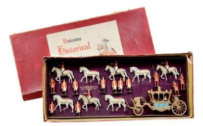 Le carrosse royal Attelé à 8 chevaux, cousus...