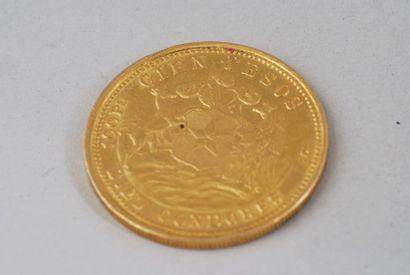 Pièce en or 900°/00 de 100 pesos chilien...
