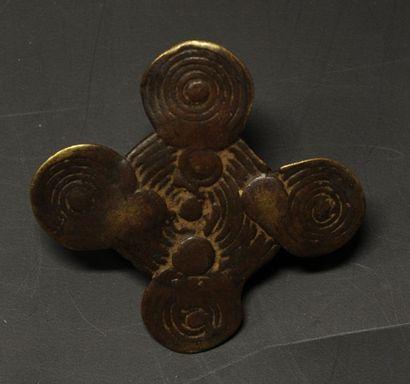 Bague Dogon, Mali. En bronze à cire perd...