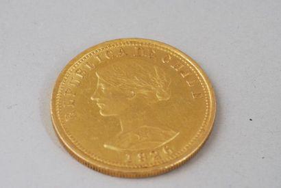 Pièce en or jaune de 40 lires italienne de...