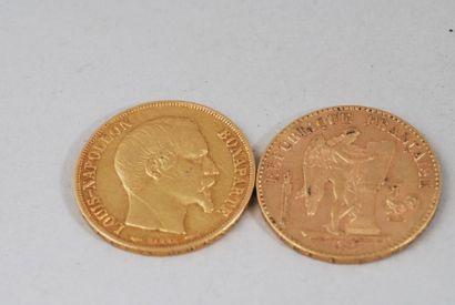 Pièce de 20 francs or génie 1896 A, d'après...