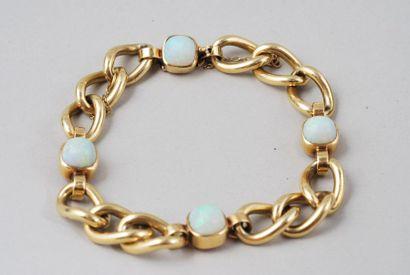 Bracelet « gourmette » en or jaune 18K à...