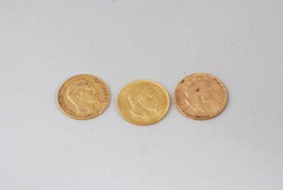 Pièce de 20 francs or Louis Napoléon Bonaparte...