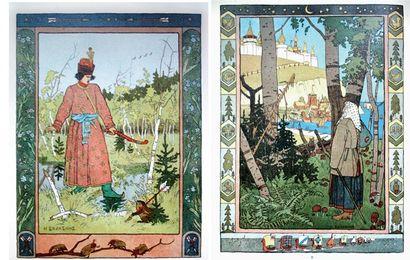 Contes russes. 4 fascicules in -4 illustrés...