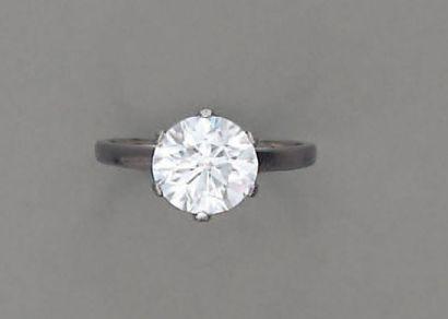 BAGUE diamant brillanté (certificat CCIP...