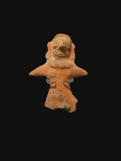 Statuette d'homme. En terre cuite. H : 7.5...