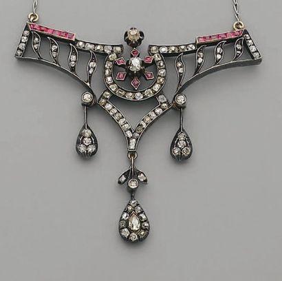 PENDENTIF Napoléon III, en or, argent, diamants...