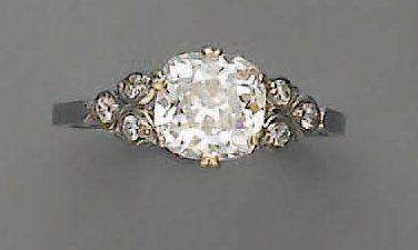 BAGUE diamant brillanté (2,10 cts), en p...