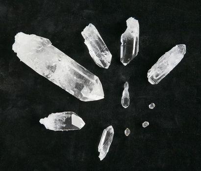 Lot de cristaux de quartz - provenance Arkansas...