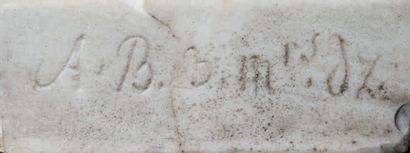 Sèvres, Bacchus et Cérès. Ce groupe à deux figures, en biscuit de porcelaine dure,...