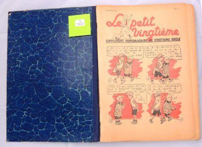 «Le Petit Vingtième» 1937. Reliure amateur...