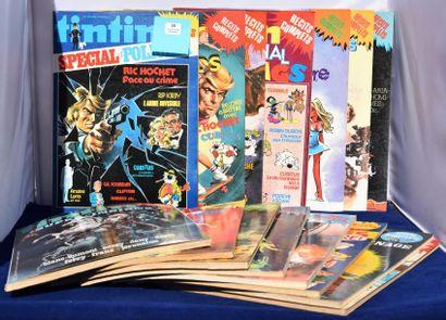 «Tintin spécial». Lot des n°1 à 7, 9, 10,...