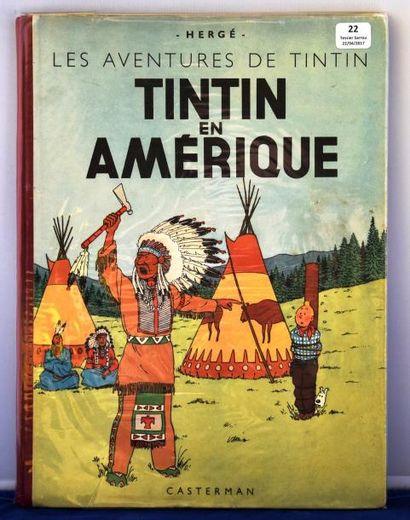 «Tintin en Amérique». Edition originale couleurs....