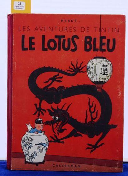 «Le Lotus Bleu». Edition originale couleurs....