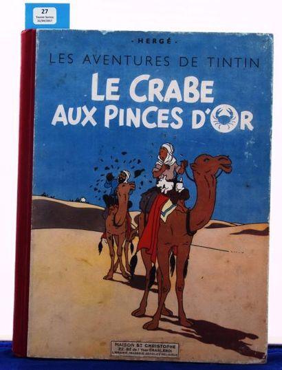 «Le Crabe aux Pinces d'Or». Casterman 1942,...