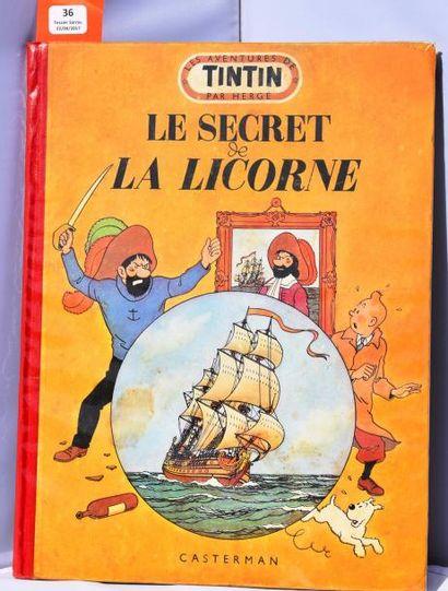 «Le Secret de la Licorne». Casterman 1952,...