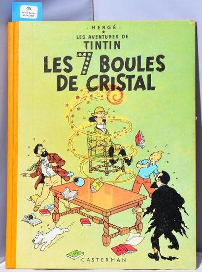 «Les 7 Boules de Cristal». Casterman 1956,...