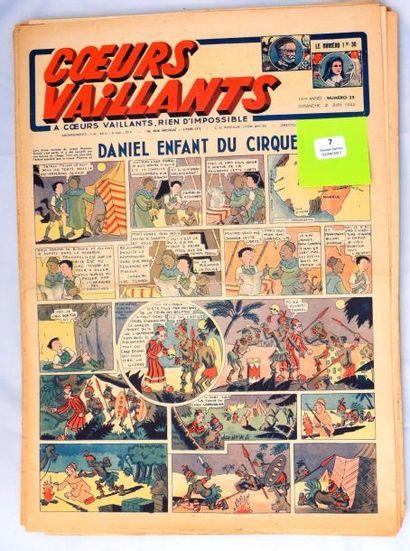 «Coeurs Vaillants» 1942. Lot des n°25 à 52....