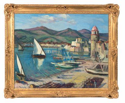 Charles CAMOIN (1879-1965) Tartanes à Collioure n°2, 1912 Huile sur toile, ancien...