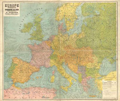 EUROPE CENTRALE. CHEMINS DE FER Carte routière...