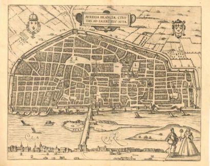 LA VILLE d'ORLEANS Très rare carte ancienne...