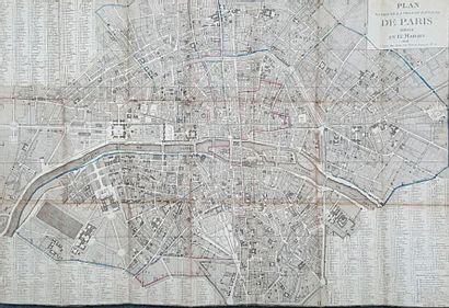 PLAN ROUTIER DE LA VILLE ET FAUBOURG DE PARIS...