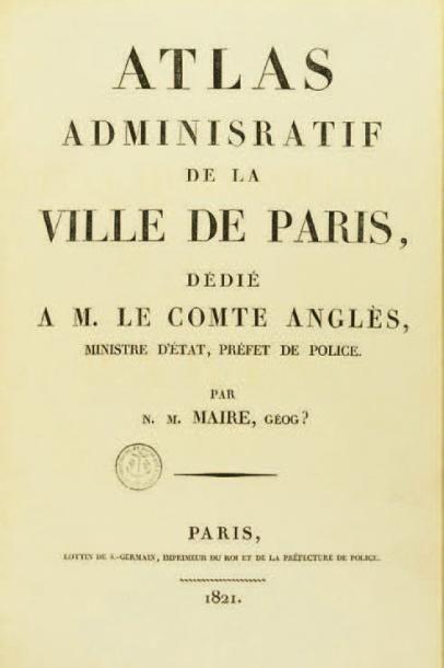ATLAS ADMINISTRATIF DE LA VILLE DE PARIS...