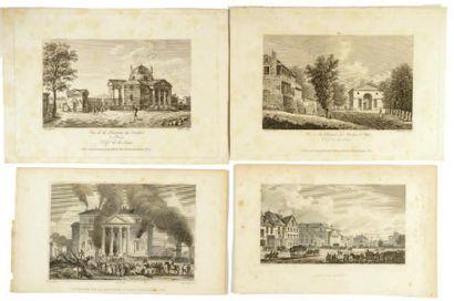 BARRIERES DE PARIS 32 gravures anciennes,...