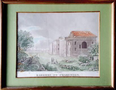 BARRIERES DE PARIS Louis- Philibert Debucourt...