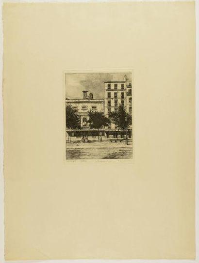 """LES GRANDS BOULEVARDS 10 gravures. Les """"Portes..."""