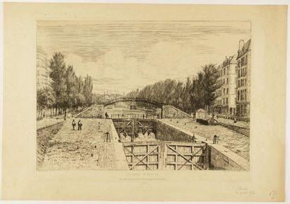 PARIS DU XII au XIXème siècle 8 gravures...