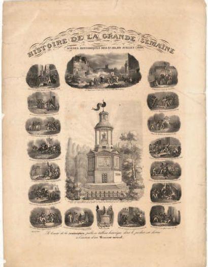 HISTOIRE DE LA GRANDE SEMAINE Scènes historiques...