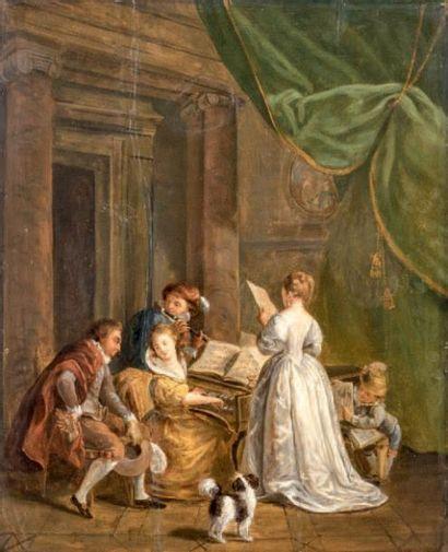 Ecole FRANCAISE, du XIXème siècle, dans le goût de Marguerite GERARD