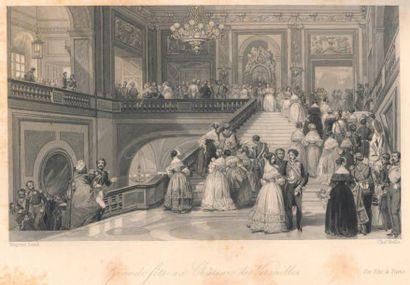 EUGÈNE LAMI (Paris 1800 - 1890) L'Entrée de Son Altesse Royale la Duchesse d'Orléans...