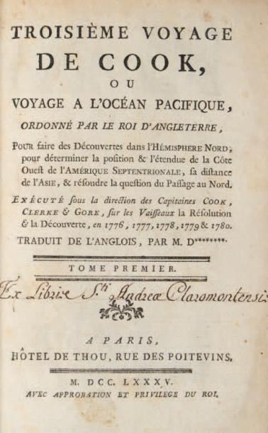 Troisième voyage de Cook, ou Voyage à l'océan...