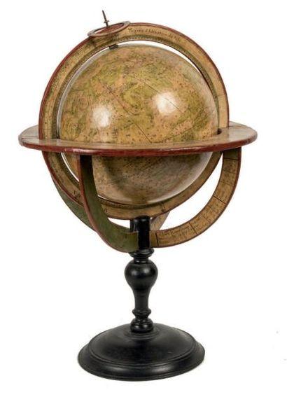 Ensemble de quatre sphères terrestre, céleste...