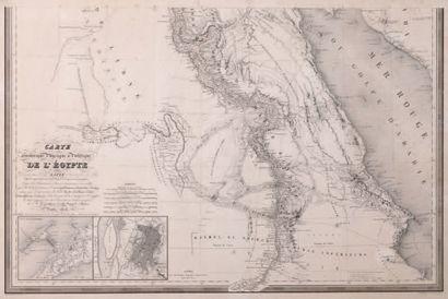 Carte Egypte Dressée par Lapie Ier géographe...