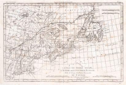 Carte L'isle de Terre neuve, l'Acadie et...