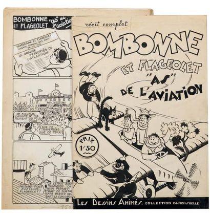 «Bombonne et Flageolet». Ensemble de 16 planches...
