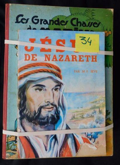Lot de 33 albums divers. Dont «Jésus de Nazareth»...