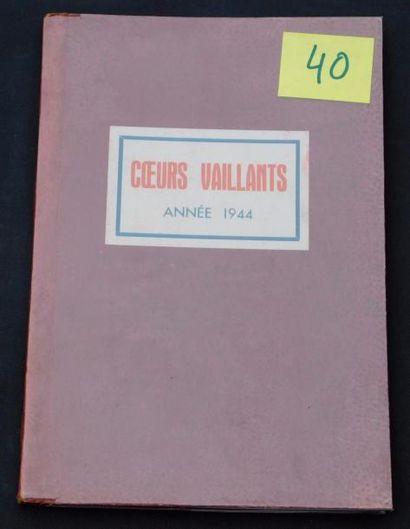 «COEURS VAILLANTS» année 1944. Reliure éditeur...