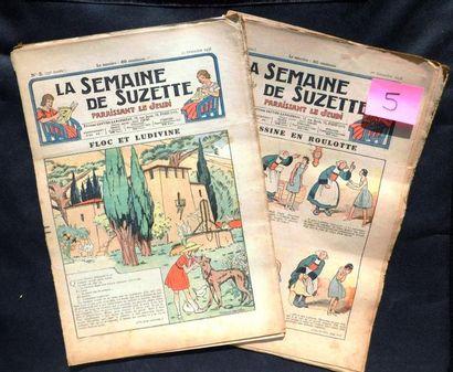 LA SEMAINE DE SUZETTE. Un carton renfermant...