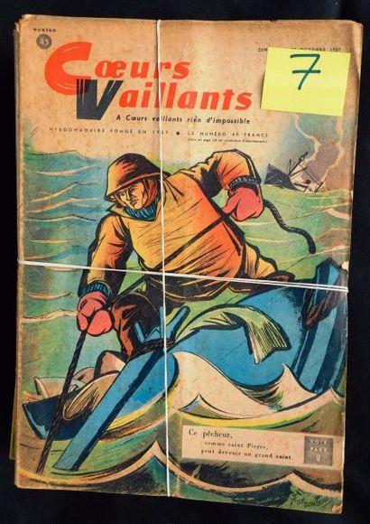 COEURS VAILLANTS. 1957 et 1958. Série complète...