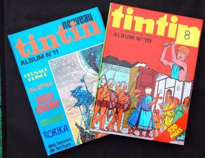 Le Nouveau TINTIN. Lot de 9 albums éditeur:...