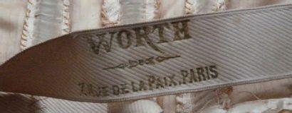 WORTH Robe de mariée à transformation en soie façonnée ivoire comprenant une jupe,...